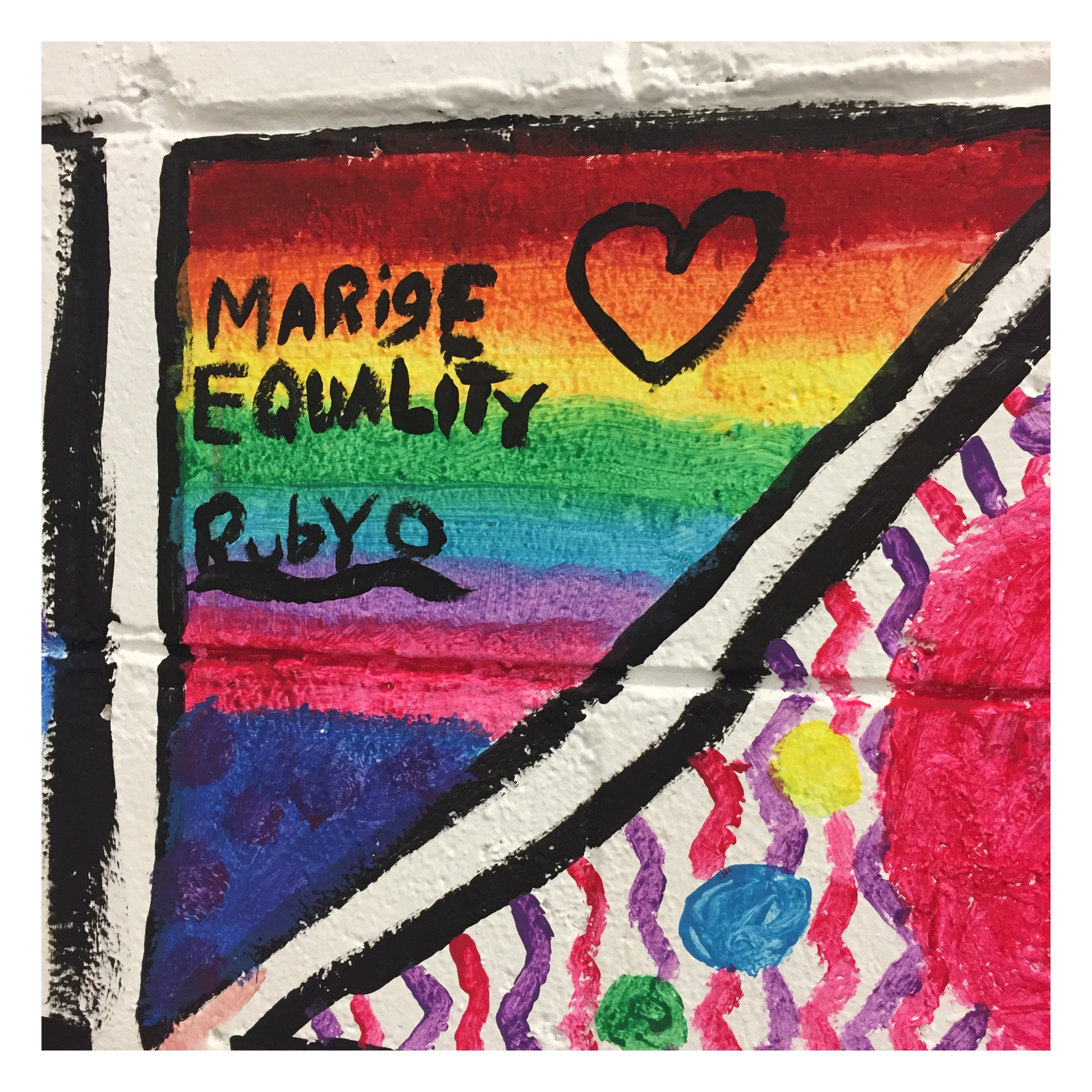 Active Arts Workshop painting_marriage equality